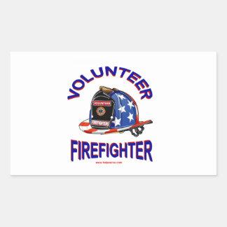 Volunteer_Firefighter_Helmet Rectangular Sticker