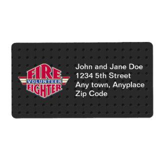 Volunteer Firefighter Shipping Label