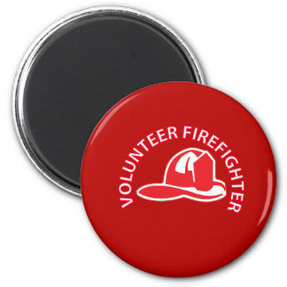 Volunteer Firefighter Logo Magnets