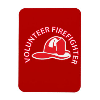 Volunteer Firefighter Logo Flexible Magnets