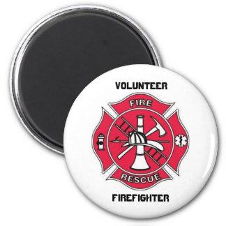 Volunteer  Firefighter Fridge Magnet