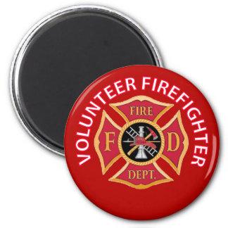 Volunteer Firefighter Maltese Cross Fridge Magnets