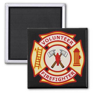 Volunteer Firefighter Maltese Cross Magnet