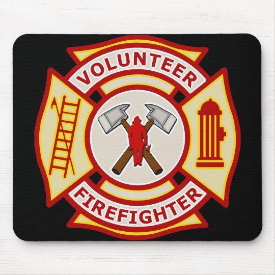 Volunteer Firefighter Maltese Cross Mouse Pad