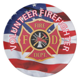 Volunteer Firefighter Maltese Cross Party Plates