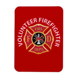 Volunteer Firefighter Maltese Cross Rectangular Magnet
