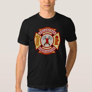 Volunteer Firefighter Maltese Cross Tee Shirt