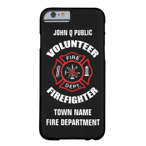 Case Design firefighter phone case : ... Firefighter Name Template Barely There iPhone 6 Case : Zazzle