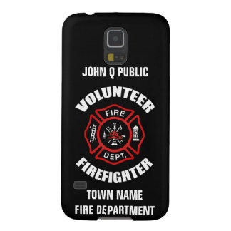 Volunteer Firefighter Name Template Galaxy S5 Cover