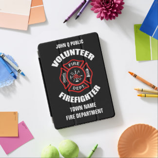 Volunteer Firefighter Name Template iPad Pro Cover