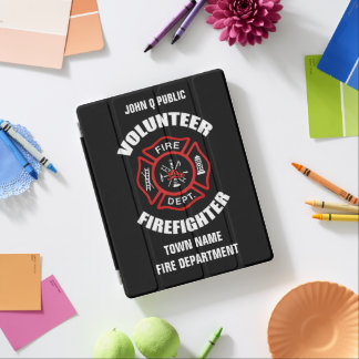 Volunteer Firefighter Name Template iPad Smart Cover