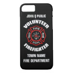 Volunteer Firefighter Name Template iPhone 7 Case