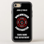 "Volunteer Firefighter Name Template OtterBox Symmetry iPhone 8/7 Case<br><div class=""desc"">Volunteer Fire Department logo. with your name and department. Great for Volunteer firemen and first respondents.</div>"