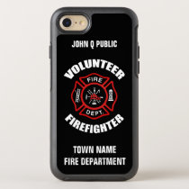 Volunteer Firefighter Name Template OtterBox Symmetry iPhone 8/7 Case