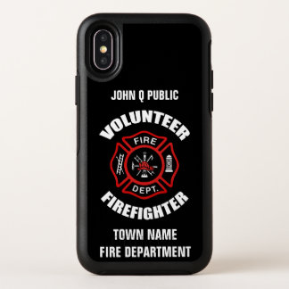 Volunteer Firefighter Name Template OtterBox Symmetry iPhone X Case