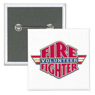 Volunteer Firefighter Pinback Button