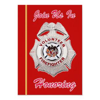 Volunteer Firefighter Retirement Invitation