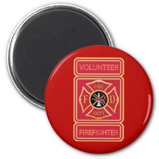 Volunteer Firefighter Shield Magnet
