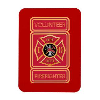 Volunteer Firefighter Shield Vinyl Magnets