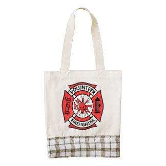 Volunteer Firefighter Zazzle HEART Tote Bag