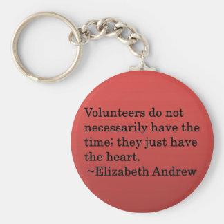 Volunteer Heart Basic Round Button Keychain
