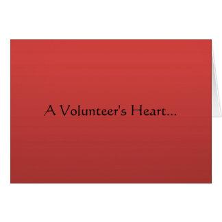 Volunteer Heart Stationery Note Card
