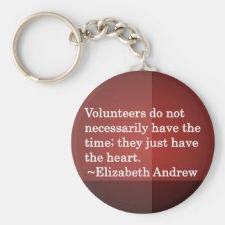 Volunteer Heart Keychain