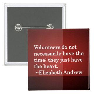 Volunteer Heart Pinback Button