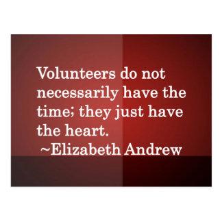 Volunteer Heart Postcard