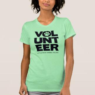 """Volunteer, LRAV"" Ladies T-shirt (Lime Green)"