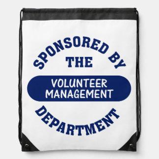 Volunteer Management Drawstring Backpack