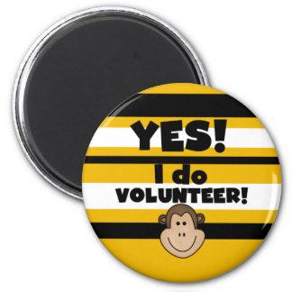 Volunteer Monkey 2 Inch Round Magnet