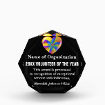 """Volunteer of the Year Award<br><div class=""""desc"""">Your dedicated volunteers are valuable beyond measure. Our unique gifts and customized items recognize and celebrate your volunteers&#39; commitment and hard work. Volunteers are the lifeblood of your organization, so make sure they are pumping with energy! We understand that volunteers are important to your organization, so we've made volunteer appreciation...</div>"""