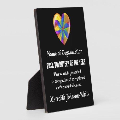 Volunteer of the Year Award Plaque