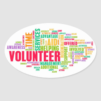 Volunteer Oval Sticker