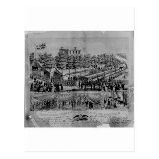 Volunteer Refreshment Saloon, civil war, 1861 Postcard