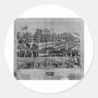 Volunteer Refreshment Saloon, civil war, 1861 Sticker