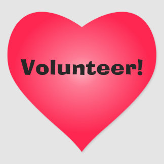 Volunteer: Share Your Heart Heart Sticker