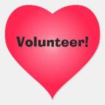 Volunteer: Share Your Heart Heart Stickers