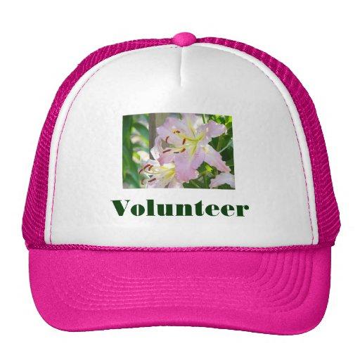 Volunteer sports Hat Summer custom Pink Lilies