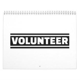 Volunteer staff calendar