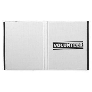 Volunteer staff iPad folio cases