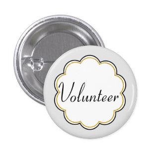Volunteer Staff Identification | Faux Gold Glitter Button