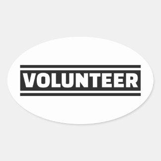 Volunteer staff oval sticker