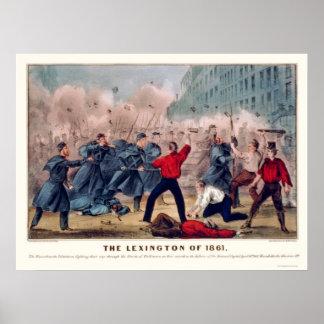 Volunteer Street Fight in Baltimore 1861 Poster