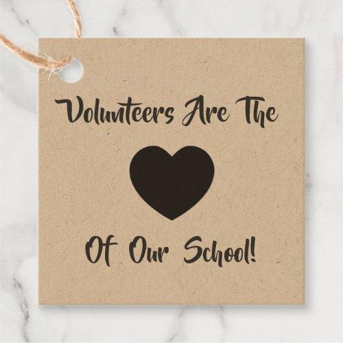 Volunteer Thank You Tag, Volunteer Gift Tag, Kraft Favor Tags