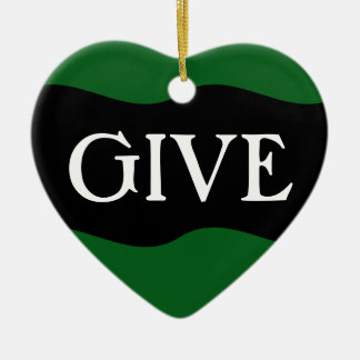 Volunteer: The Greatest Gift is Giving Yourself Ceramic Ornament