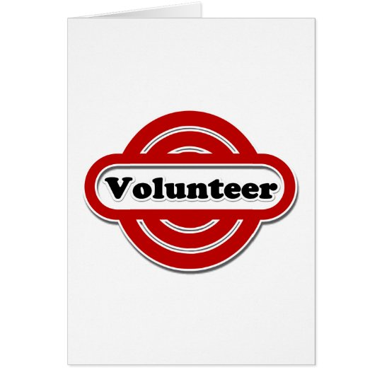 Volunteer Tshirts, Volunteer Buttons and more Card