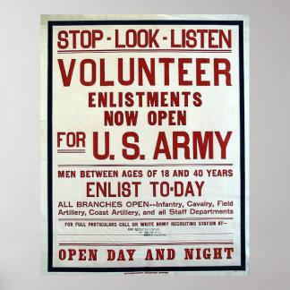 Volunteer - US Army Poster