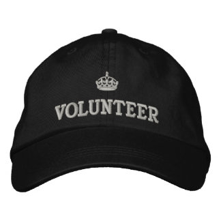 Volunteer with crown logo embroidered baseball cap